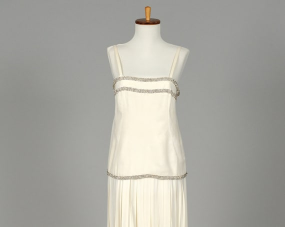 1970 Silk Crepe Vintage Wedding Dress