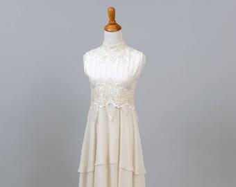 1970 Embellished Vintage Wedding Dress