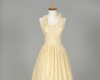 1970s Peasant Lace Vintage Wedding Gown