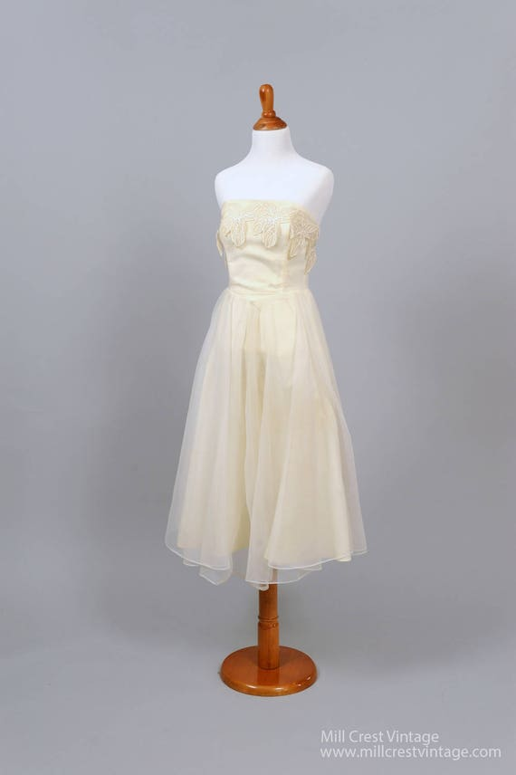 1960 Strapless Vintage Wedding Dress