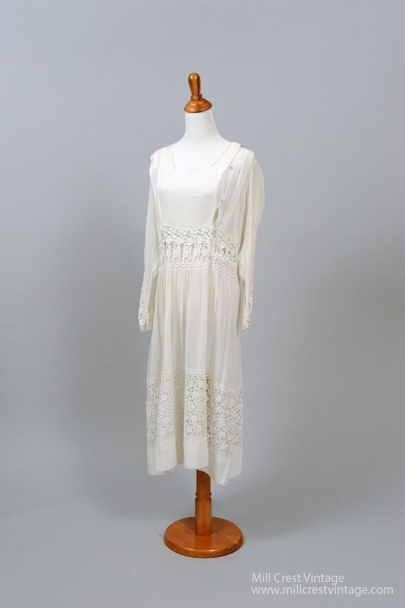 1920 Vintage Gunny Sac Style Wedding Dress