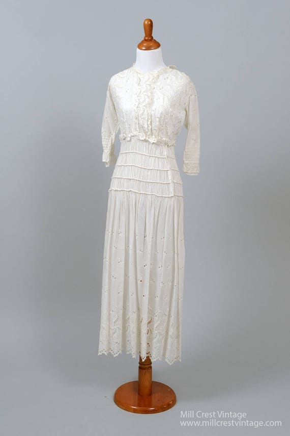 Edwardian Peasant Vintage Wedding Dress