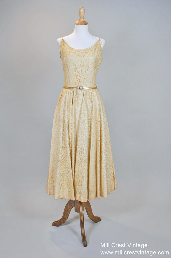 1950 Tea Stained Vintage Wedding Dress