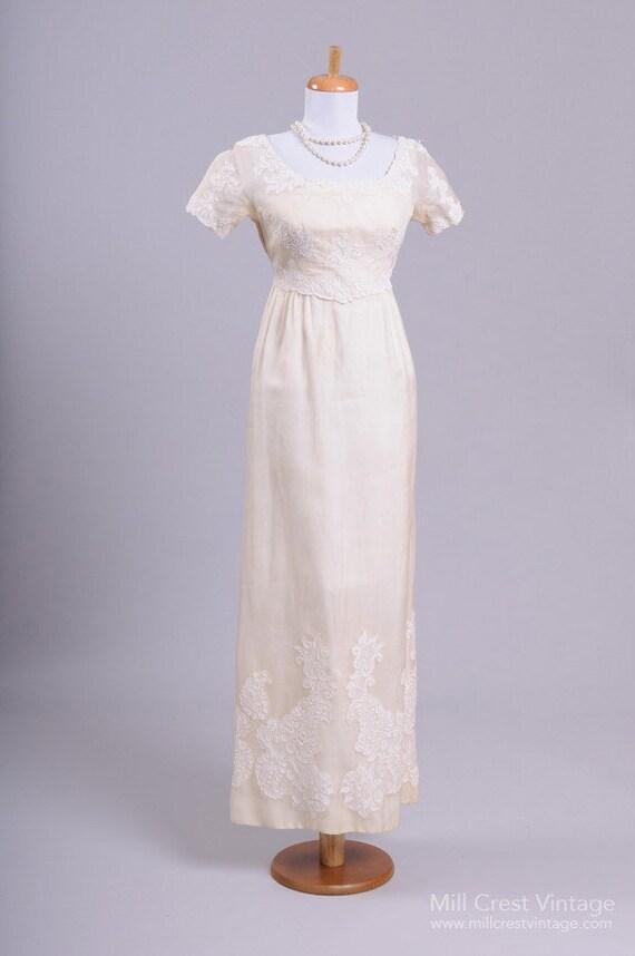 1960 Silk Organza Vintage Wedding Gown
