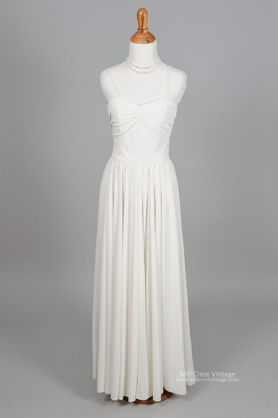 1970  Knit Halston Style Vintage Wedding Gown
