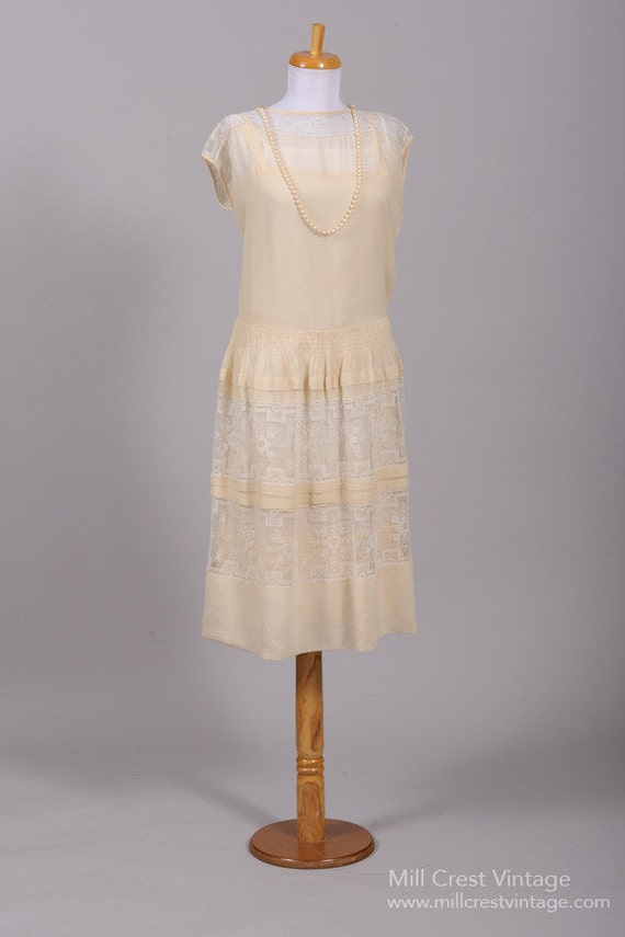 1920 Gatsby Lace Vintage Wedding Dress