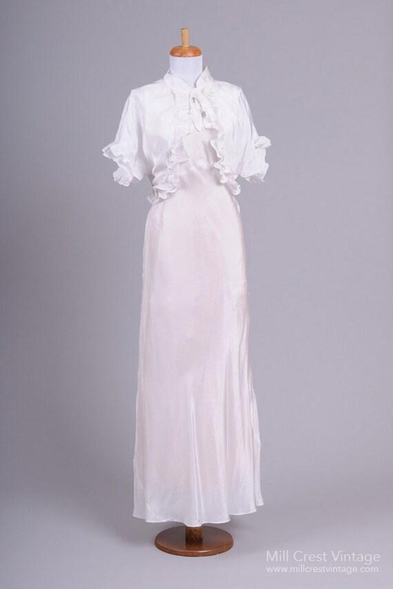 1940 Jean Harlow Vintage Wedding Ensemble