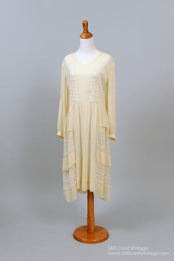 1920 Vanilla Gatsby Vintage Wedding Dress