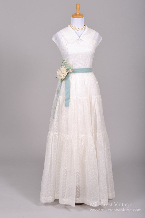 1940 Voile Vintage Wedding Gown