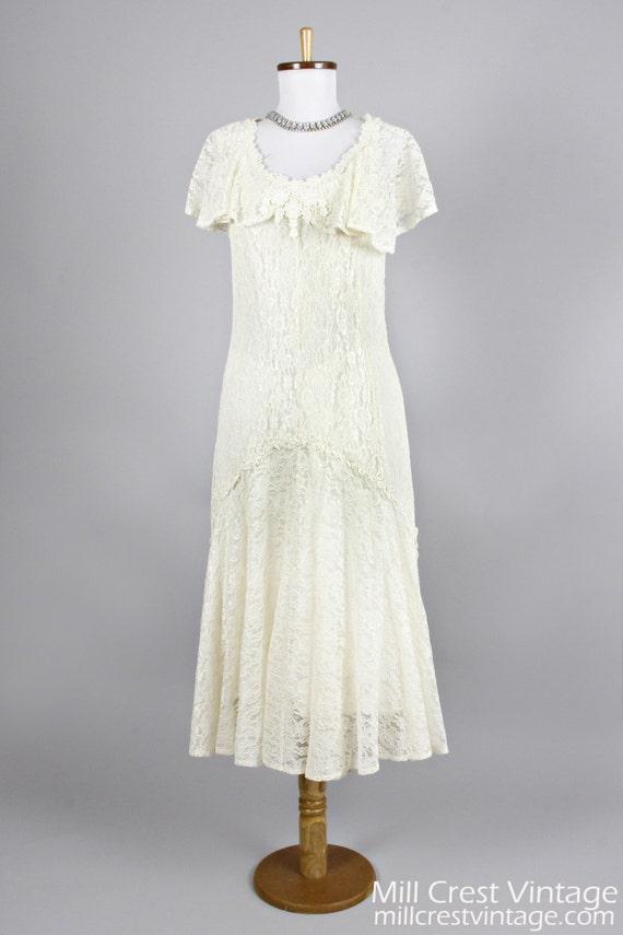1970 Twenties Vintage Wedding Dress