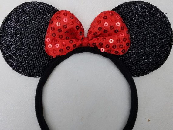 Disney Park Candle Red Sequins Minnie Mouse Ears Polka Dot New Gift Headband