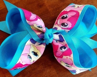 """My Little Pony Turquoise 5.5"""" - 6"""" Girl's Large Hair Bow New with Clip"""