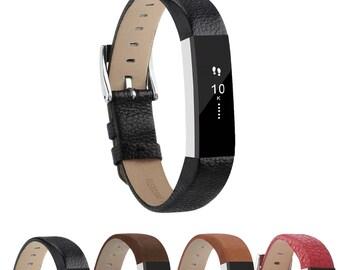 5b58053ccfa1 StrapsCo Genuine Leather Watch Band Strap for Fitbit Alta   Alta HR