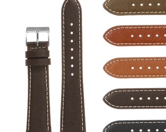 Classic Pebbled Leather Quick Release Watch Band Strap 16mm 18mm 19mm 20mm 21mm 22mm 24mm 26mm