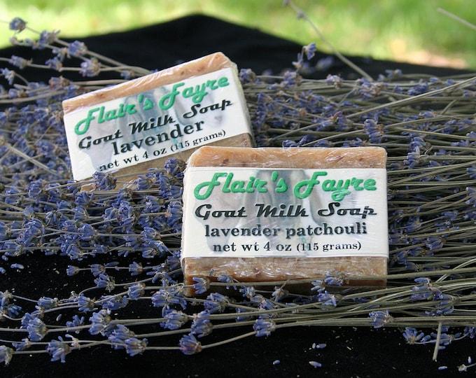 Featured listing image: lavender goat milk soap