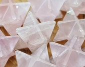 Rose Quartz Crystal Merkaba Star - Perfect for Jewelry making, Crystal Grids, or Terrariums 318