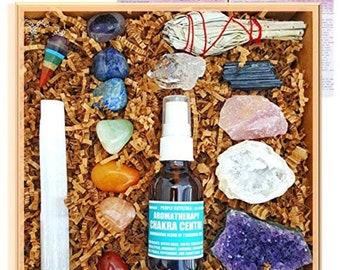 Crystal Healing Kit / House warming gift set Boho Decor Raw natural healing crystals and stones heart chakra love - 29