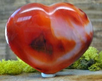 Red Carnelian Crystal Heart  - 1245.83