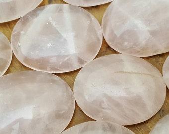 Cristal de cuarzo rosa cura te preocupes piedra - Pocket Palm 172