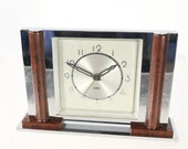 JAZ alarm clock 1936 - 37 French Art Deco chrome bakelite alarm clock for DISPLAY and or REPAIR Nymphic model