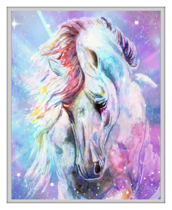 ! 297 x 210mm Horse Canvas Print A4 Size