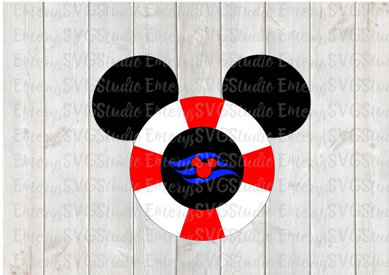 SVG File for Mickey Mouse Disney Cruise Life Raft