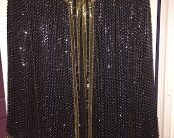 Black and Gold Beaded Jacket