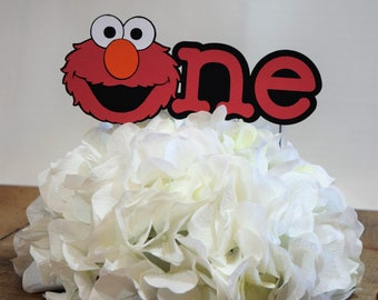 Elmo Cake Topper, Sesame Street Cake Topper, Birthday Cake Topper, Elmo Party,Birthday Topper, Cookie Monster, Elmo, Sesame Street