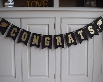 Graduation Banner, Graduation Party Decoration, Congrats Banner, Graduation Decorations, Grad Banner, Graduation Party, Graduation Cap