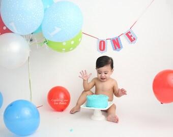 High Chair Banner, One Banner, Blue High Chair, 1st Birthday, Blue birthday High Chair, One Boy Banner, Boy First Birthday, Cake Smash