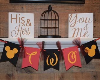 Mickey Mouse Banner, High Chair Banner, Birthday Banner, 1st Birthday, Birthday High Chair, Mickey Mouse First Birthday, I am One Banner