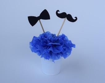 Mustache cupcake topper, Mustache Baby shower, Mustache Decor, Mustache Party, Little Man Party, Little Man Party Decor, Cupcake topper