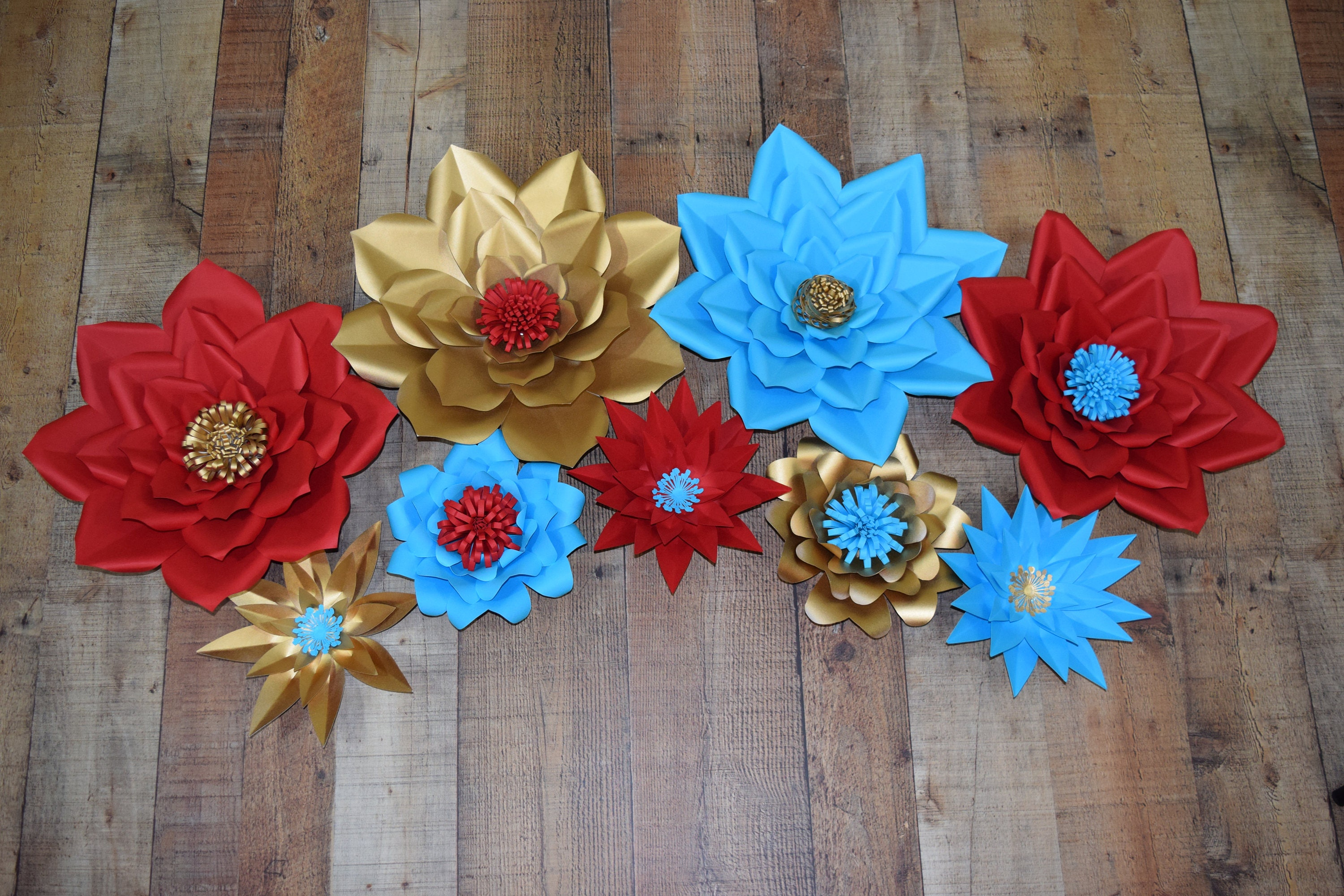 Elena Of Avalor Inspired Paper Flowers Gold Paper Flower Red Paper