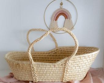 Doll basket Moses basket corn leaf