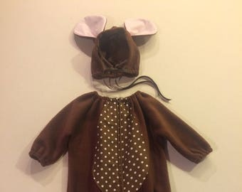 Brown mouse costume kids & Mouse costume | Etsy