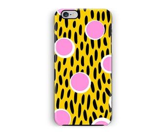Polka Dot iPhone 6S Case, iPhone 6 geval, vlekkerige telefoon gevallen, beschermende iPhone 6 gele geval taai iPhone 6 geval, PinkPhone gevallen 6s geval
