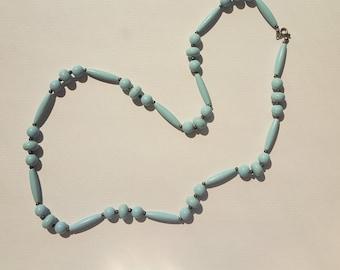 Blue Vintage Lucite beaded necklace