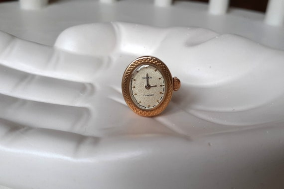 "Vintage Ring watch ""Chaika"" ,Soviet watch , Russia"
