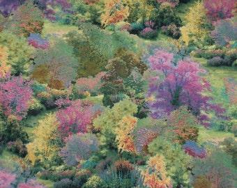 Thomas Kinkade Fabric  Tree Fabric Thomas Kinkade  Home Decor Fabric  Quilting  Fabric  By the Yard Fabric BTHY Cotton Fabric