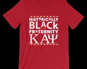 Historically Black Fraternity Kappa Alpha Psi Red t-shirt