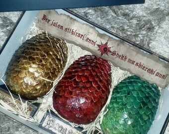REAL SIZE Game of Thrones. Dragon Eggs