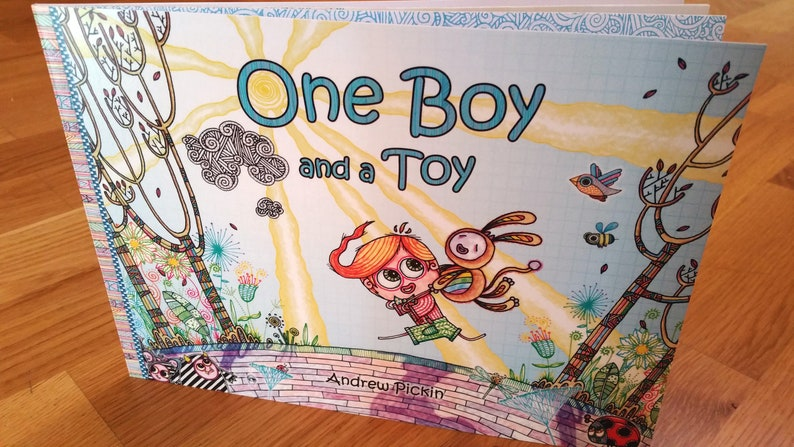 FREE PRINT INCLUDED  One Boy and a Toy  signed illustrated image 0