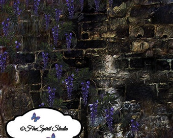 paper layers Wisteria on Stone Wall II layers  for Photoshop art handmade backgrounds abstract art handmade layers art supplies