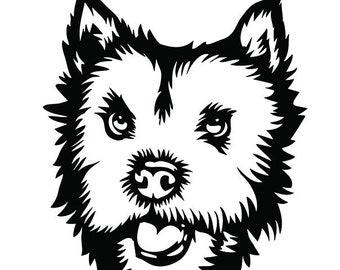 Norfolk Terrier Sketch Dog Keyring or Fridge Magnet Novelty Gifts