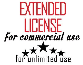 EXTENDED COMMERCIAL LICENSE For One Digital Product Design For One Person For Unlimited Uses! ExpertOutfit Inc. Clipart Graphic Licensing!