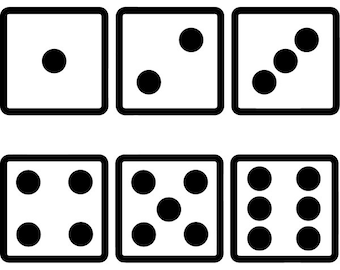 graphic relating to Printable Dice known as Betting cube Etsy