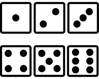 photo relating to Printable Dice called Betting cube Etsy