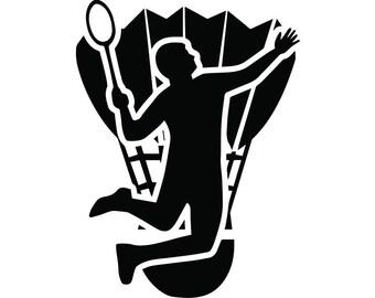 badminton clip art etsy rh etsy com badminton clip art free badminton clipart black and white