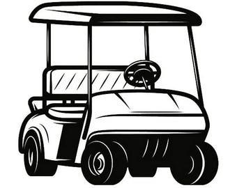 golf cart clip art etsy rh etsy com golf cart clip art cartoon golf cart clip art images