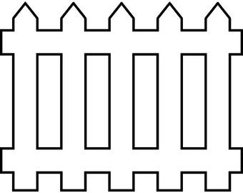 picket fence clipart etsy rh etsy com picket fence gate clipart picket fence border clipart
